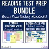 Test Prep:  Middle School Reading Skills Review BUNDLE - F