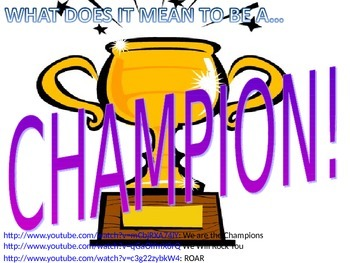 Test Prep Motivation: What is a CHAMPION?