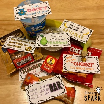 Candy and Snack Motivational Test Phrases