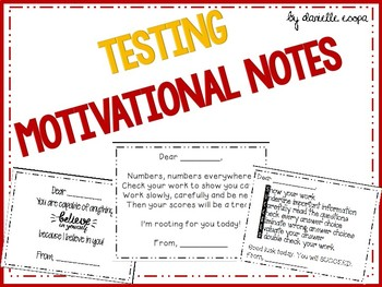 Test Prep: Motivational Notes