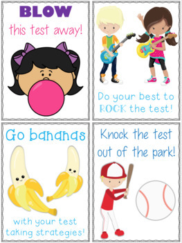 Test Prep Motivational Posters and Activities