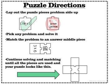Test Prep - Multiplication Division Addition Subtraction Problem Center Activity