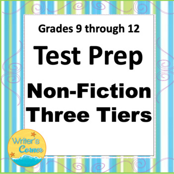 Non-Fiction Test Prep, Levels A, B, C Constructed Response Assessment, Science