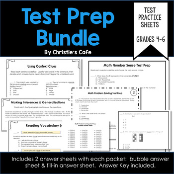Test Prep Bundle ELA / Math for Grades 4-6