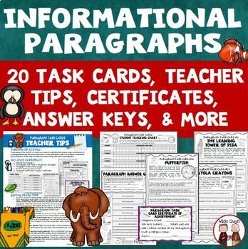 Test Prep Paragraph Structure Topic Sentences and Main Idea and Details