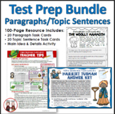 Test Prep Paragraph Structure Topic Sentences and Main Ide