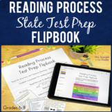 ELA Test Prep Reading Process Flipbook   Printable and Digital