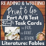 Reading Comprehension Test Prep Part A Part B Writing Printable Fables Grade 3
