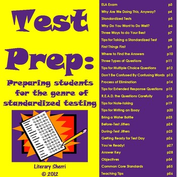 Test Prep: Preparing Students for the Genre of Standardized Testing (Grades 7-8)