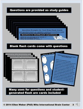 Test Prep Questions and Student-Generated Flash Cards