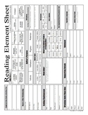 Test Prep Reading Element Sheet