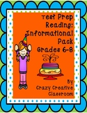 Test Prep Reading: Informational Party Pack Grades 6-8