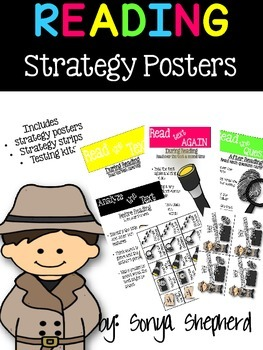 Test Prep Reading Strategy Posters and Testing Kit