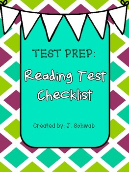 Test Prep: Reading Test Checklist