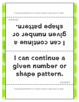 I Can Statement Posters Fourth Grade CC Math {I Can Statement Desk Signs}