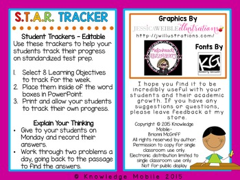 Test Prep: S.T.A.R Trackers (Standardized Test Achievement Response)