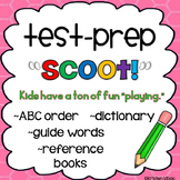 """Test Prep """"Scoot!"""" or Task Cards - ABC Order, Guide Words and Word References"""