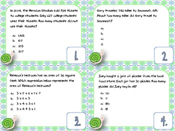 Test Prep Scoot Activity for the 3rd Grade Common Core Set 1