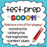 "Test Prep ""Scoot!"" or Task Cards - Synonyms, Antonyms, Homophones, Context Clues"
