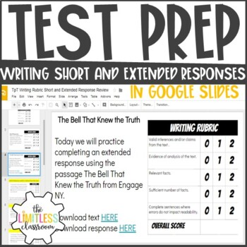 Test Prep- Short and Extended Writing Responses