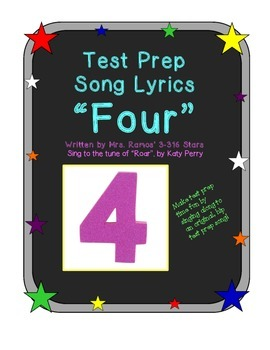 """Test Prep Song Lyrics:  """"Four"""" to the tune of """"Roar"""""""