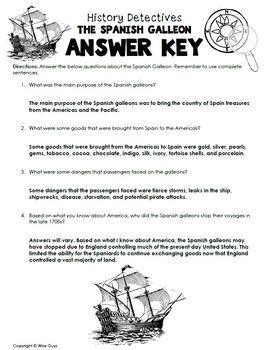 Test Prep Spanish Galleon Writing Activity
