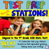 Test Prep Stations aligned to the AIR Test for 4th Grade Language Arts (set #1)