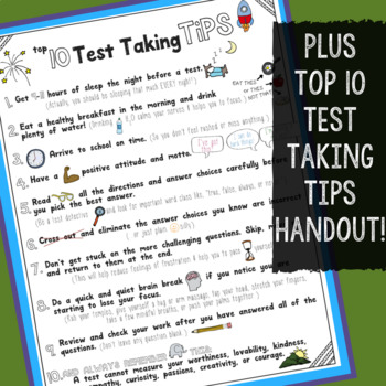 Test Prep Strategies: Student Success & Managing Stress Testing Tips Lesson/Game