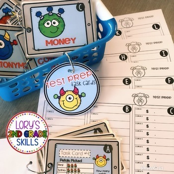 End of the Year Test Prep Task Cards - BUNDLE
