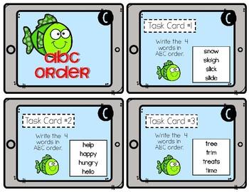 Test Prep Task Cards - Fish