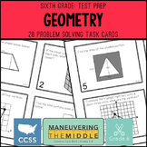6th Grade Math Test Prep Geometry Task Cards
