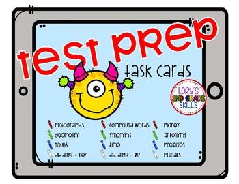 Test Prep Task Cards - Monsters