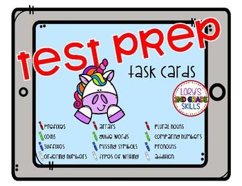 Test Prep Task Cards - Unicorn
