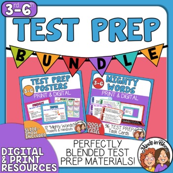 Test-Prep Task Cards and Posters: Words Your Students Need to Know for the Test