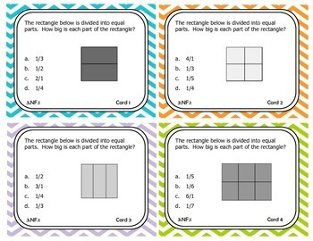 3rd Grade Math Task Cards for Number and Operations in Fractions