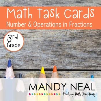Test Prep Task Cards for 3rd Grade Common Core Math *Inclu