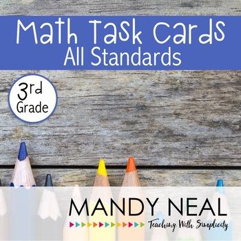 3rd Grade Math Task Cards (All Standards)