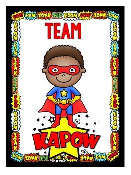 Test Prep & Team Building -  Super Hero Themed