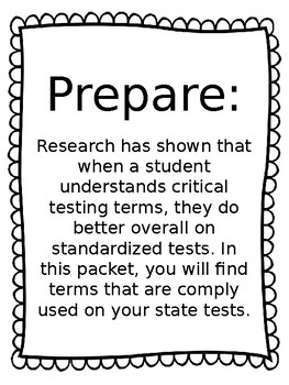 Test Prep Terms