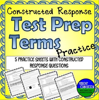 Standardized Test Prep - Constructed Response Practice for Middle School