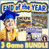 End of the Year Games  Escape Room Guess Who Classroom Capers 3 Game Bundle