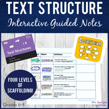 Test Prep~NF Text Structures PIXANOTES® +PowerPoint, texts