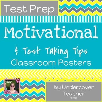 Test Prep Tip & Motivational Posters