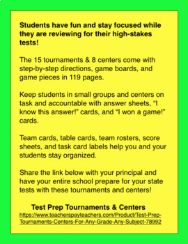 Test Prep Tournaments & Centers For Any Grade & Any Subject