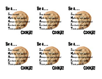 Test Prep Treat Cut-outs (SMART Cookie)