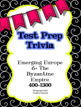 Test Prep Trivia Emerging Europe History