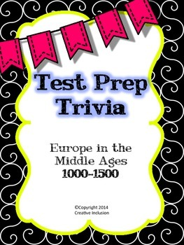 Test Prep Trivia for Europe in the Middle Ages
