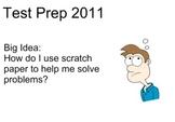 Test Prep:  Using Scratch Paper