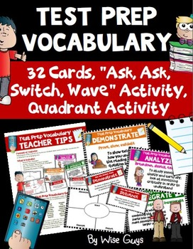 Test Prep Vocabulary Cards Printables