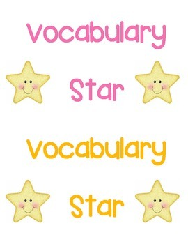 Test Prep Vocabulary Terms -3rd grade Reading
